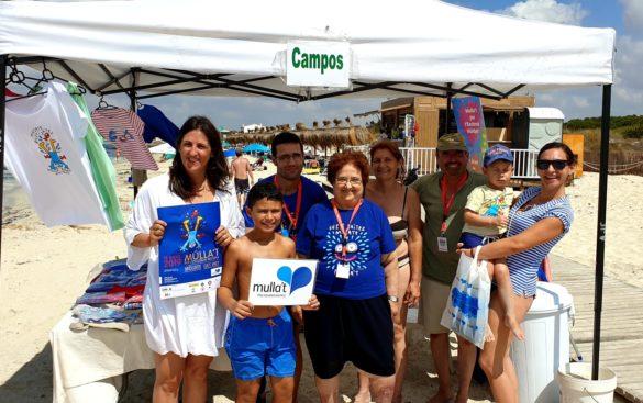 Campos es 'mulla' per l'esclerosi múltiple a la platja de Ses Covetes