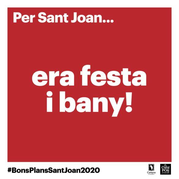 A Campos per Sant Joan… era festa i bany!