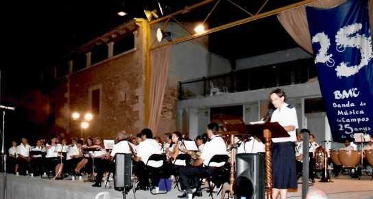 La Banda de Música de Campos celebrarà les seves 40 Santa Cecília's amb un passacarrer i una intervenció musical